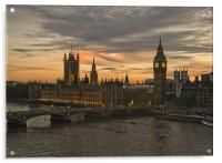 Sunset over Parliament, Acrylic Print