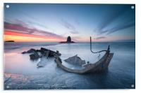 Sunset over the Admiral, Saltwick Bay, Acrylic Print