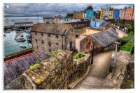 Down to Tenby Harbour, Acrylic Print
