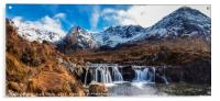 Looking over a waterfall up Coire na Creiche, Acrylic Print