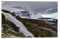 Bride's Veil Falls and the Storr, Acrylic Print