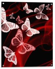 red butterfly phone case, Acrylic Print