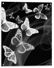 black white butterfly phone case, Acrylic Print
