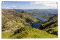 View From Snowdon Summit, Acrylic Print