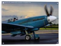 Spitfire PS915 starting., Acrylic Print