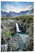 Fairy pools on Skye in Portrait , Acrylic Print