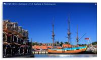 Full size replica of The Endeavour - Whitby, Acrylic Print