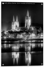 Truro Cathedral in Black and White, Acrylic Print