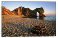 Durdle Door at dusk., Acrylic Print