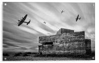 WW2 Pill Box, Acrylic Print
