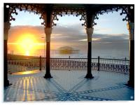Bandstand winter solstice, Acrylic Print