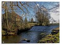The Weir River Leven, Acrylic Print