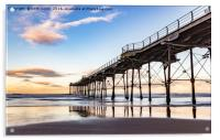 Saltburn in the afternoon light , Acrylic Print