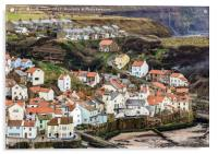 Looking down on Staithes, Acrylic Print