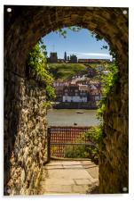 Whitby through the tunnel, Acrylic Print