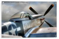 P51 Mustang Ready for Action, Acrylic Print