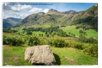 Langdale Pikes, Acrylic Print