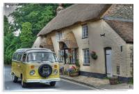 VW Camper and Thatch, Acrylic Print