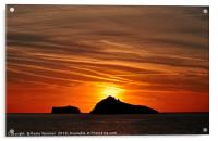 Thatcher Rock and The Orestone at sunrise , Acrylic Print