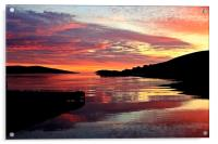 Sunset Over Port Arthur Scalloway, Acrylic Print