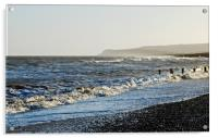Waves lapping at the shore, Acrylic Print