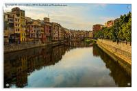 Girona City View down the River Onyar, Acrylic Print
