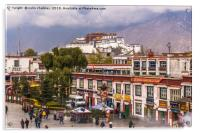 Potala Palace from the Jokhang Temple in Lhasa, Acrylic Print