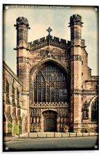 Grunged work of Chester Cathedral, Acrylic Print