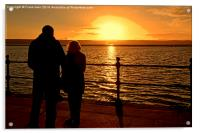 Sunset viewed from West Kirby, Wirral, UK, Acrylic Print