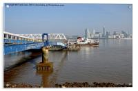 Snowdrop leaving Seacombe Ferry, Acrylic Print