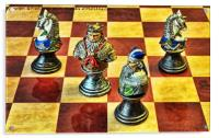 Medieval chess pieces, Acrylic Print