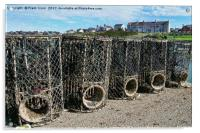 Lobster pots at Caemis Bay, Anglesey, Acrylic Print