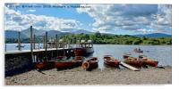 Rowing boats on Derwent Water, Acrylic Print