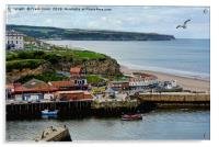 The fishing town of Whitby, Acrylic Print