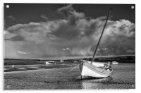 Storm at the Staithe, Acrylic Print