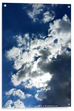 Only clouds, Acrylic Print