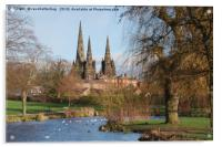 Lichfield Cathedral Beacon Park, Acrylic Print