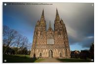 Clouds Over The Lichfield Cathedral, Acrylic Print