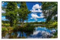 Reflections in Stover Lake., Acrylic Print