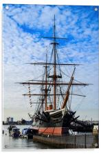 hms warrior, Acrylic Print