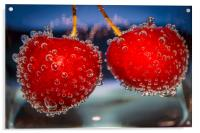 Cherries and bubbles, Acrylic Print