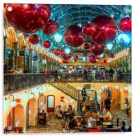 Christmas at Covent Garden, Acrylic Print