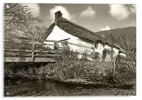 Cottage By The Stream, Acrylic Print