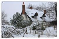 The Cottage in the Snow, Acrylic Print