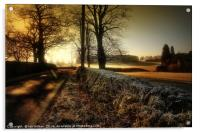 ON A COLD AND FROSTY MORNING, Acrylic Print