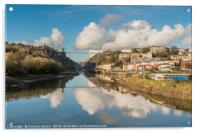 Clifton Suspension Bridge Reflected, Acrylic Print