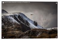 RAF Mountain Rescue in Snowdonia, Acrylic Print