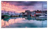 Sunrise at Padstow, Acrylic Print