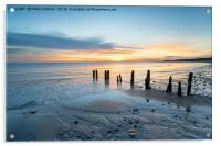 Sunrise at Sandsend Beach in Yorkshire, Acrylic Print