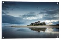 Bamburgh Castle Reflections, Acrylic Print
